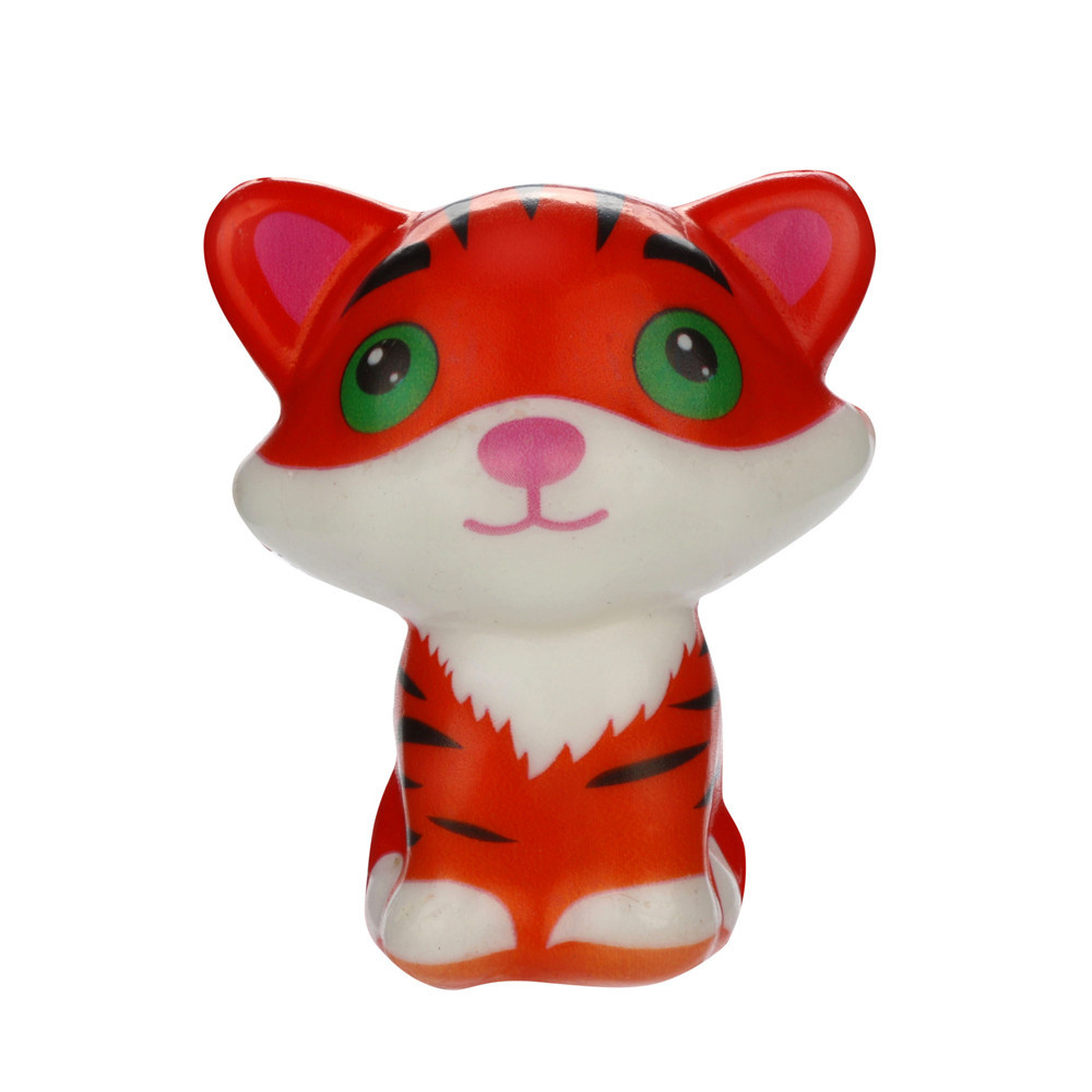 Slow Rising Cartoon Tiger Stress Relief Toys Cartoon Decompression Animal Toy Eliminate Antistress Finger Pets Toy #A