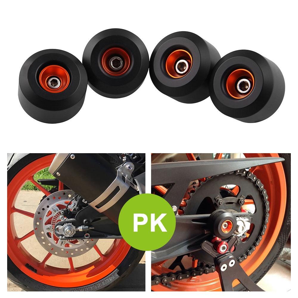 4pcs Motorcycle Front Rear Fork Wheels Frame Slider Crash Protectors For KTM RC390 Duke 390 125 200 RC 390 RC 125
