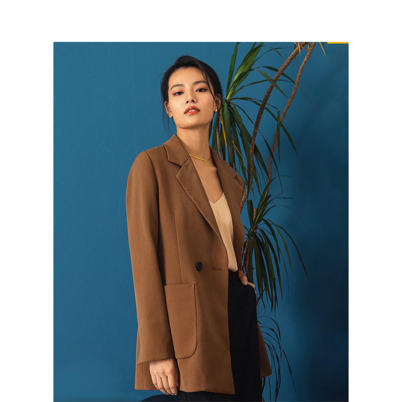 INMAN 2020 Spring New Arrival Minimalist Retro Office Style Pocket Women Lady Outwear Suit