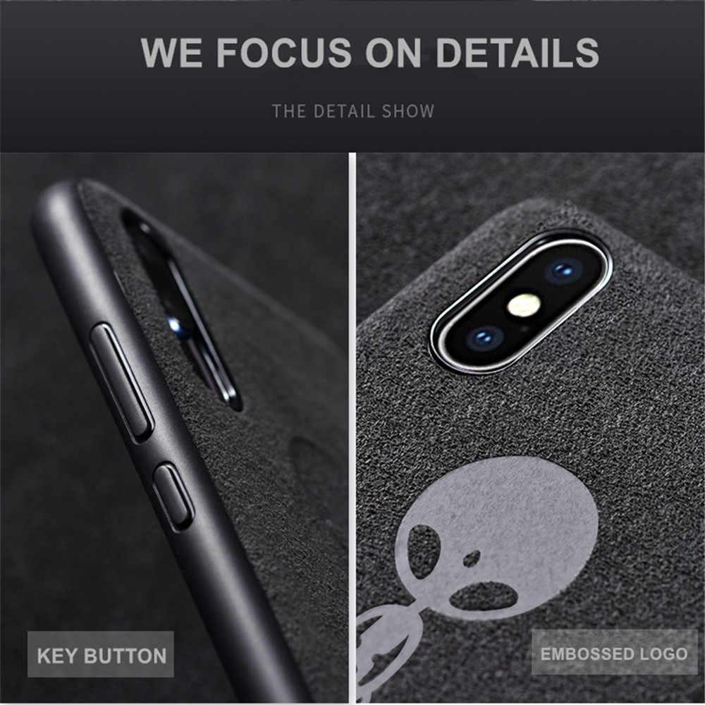 Роскошные замшевые Меховые чехлы для телефонов iPhone 11 Pro Max, новинка 2019, ультра тонкий кожаный мягкий чехол для iPhone 6, 6s, 7, 8 Plus, X, XS, XR, чехол