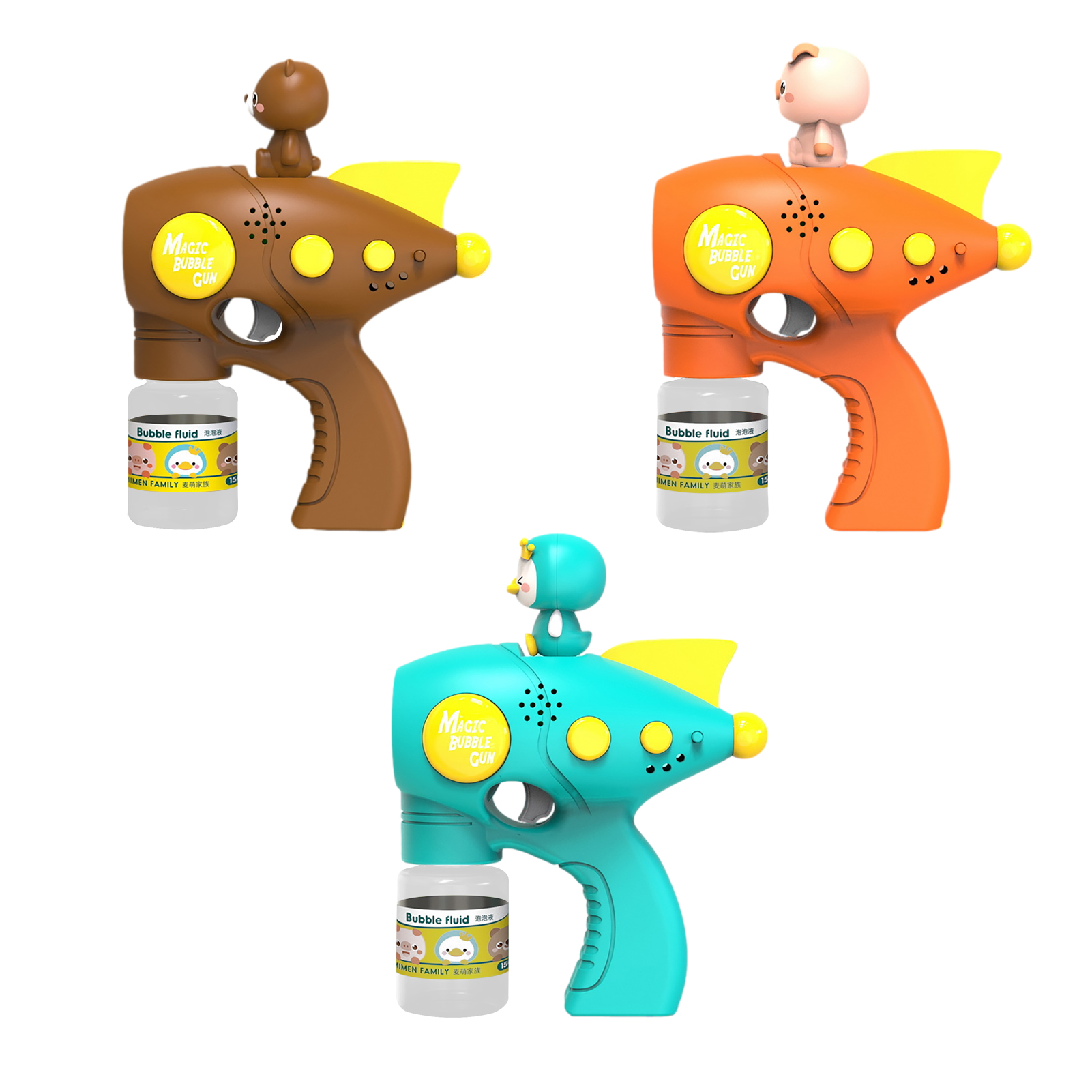 Мультфильм электрическая машина пузыря Лето Автоматическая дующий пузыри чайник пистолет, флисовая верхняя одежда для детей, подарок на де...