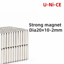20 pcs 20mm x 10mm 2mm strong square cuboidal magnet N35 * 10 2 rare earth neodimiumart craft connection