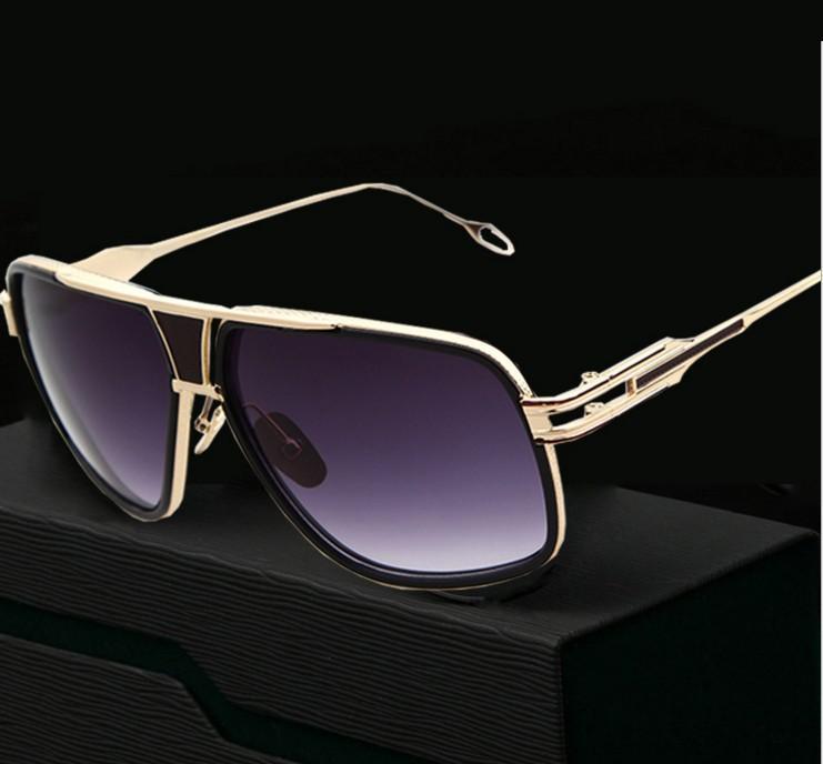 M16 módní Pánské sluneční brýle Nejnovější Vintage Velký rám Brýle Letní Styl Značka Design Sluneční brýle De Sol UV400 + Plátěná taška
