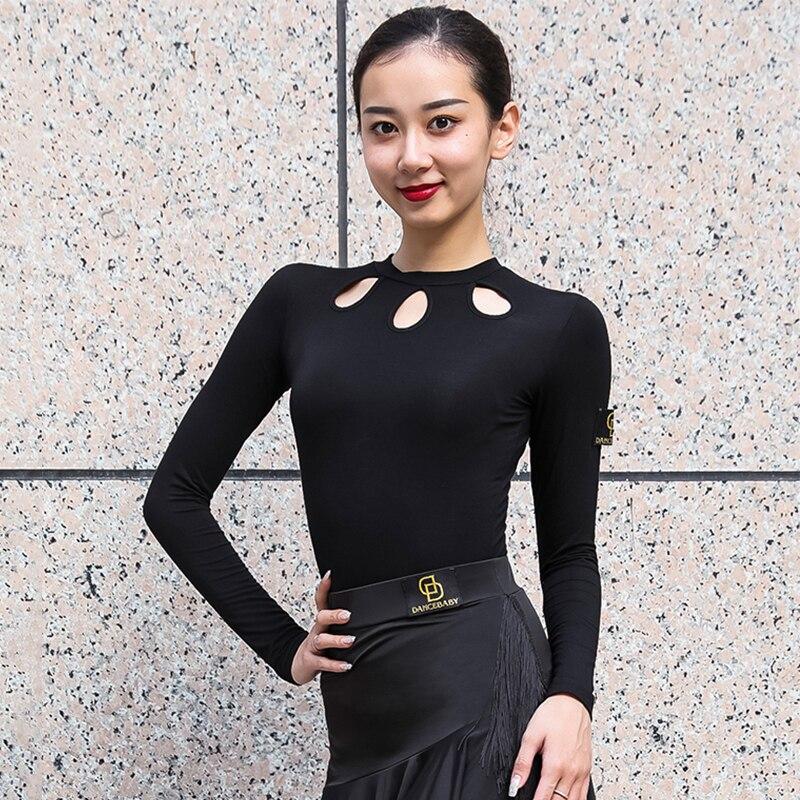 Latin Dance Tops Women Fashion Cha Cha Tango Salsa Samba Rumba Ballroom Practice Dancing Wear Modal Performance Outfit DC3061