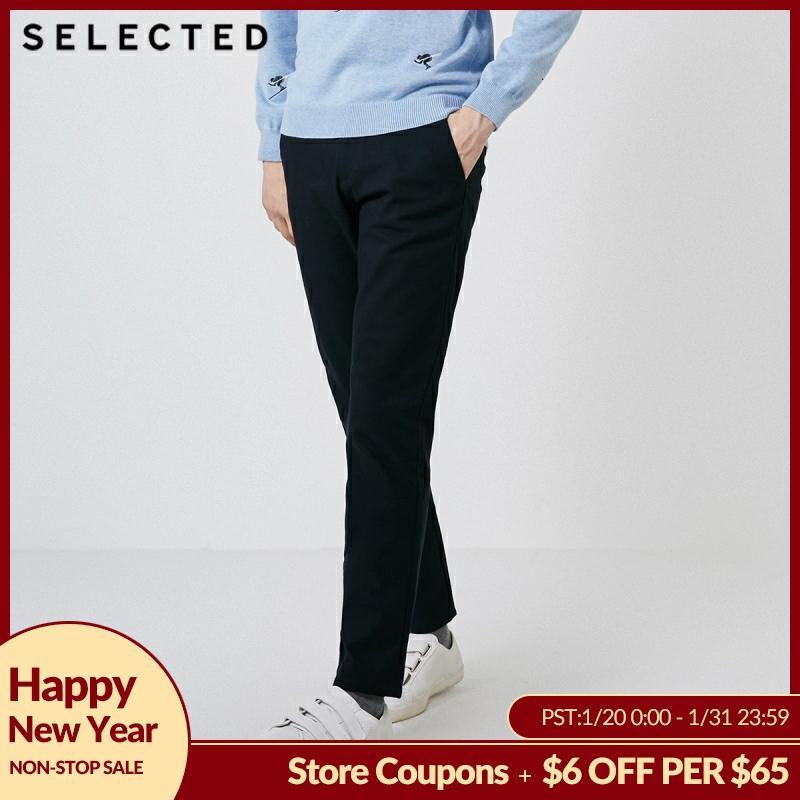 SELECTED Men's Winter Slim Fit Pure Color Pants S 418414501