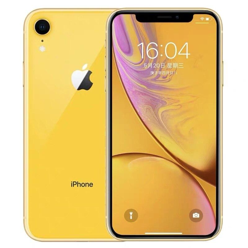 """Id original da cara do iphone xr da apple do telefone móvel da segunda mão 6.1 """"3g ram 64gb/128gb/256gb rom 4g lte apple smartphone nfc 5"""