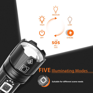 Image 3 - Super bright XHP70.2 LED ไฟฉายกันน้ำยุทธวิธีไฟฉาย LED Telescopic zoom ใช้สำหรับผจญภัย,hunt