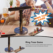 New Party Toys Leisure Industrial Style Bar Drink Shop Handmade Wooden Ring Toss Hooks Fast-paced Interactive Game For Bars Home