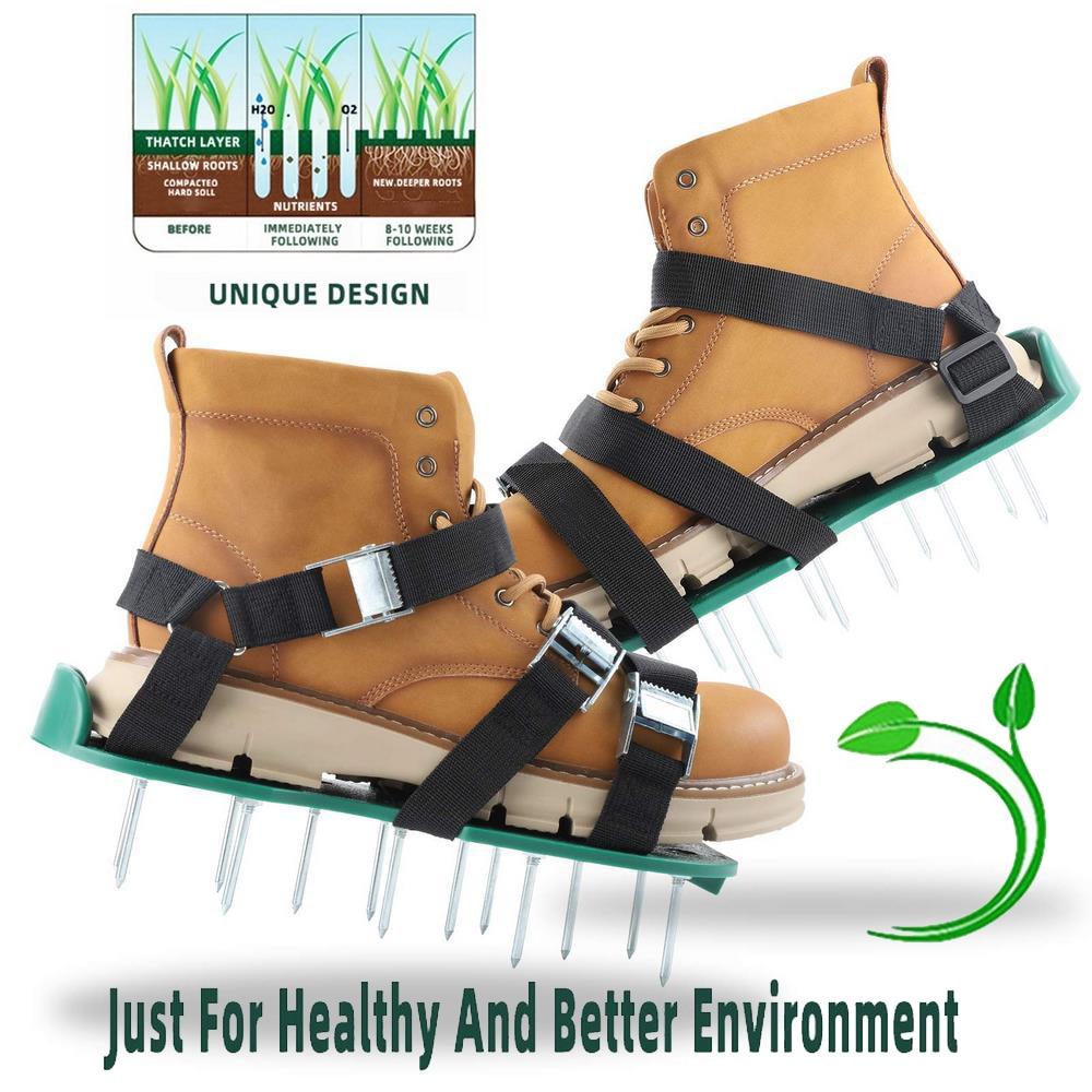 Lawn Aerator Shoes Gardening Walking Lawn Aerator Sandals Garden Grass Loosening Tools Grass Spikes Grass Shoes