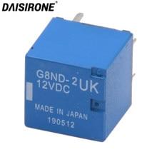Qualidade superior G8ND-2UK 12v dc freio de mão carro frágil relé de falha comum janela elevador relé g8nd azul