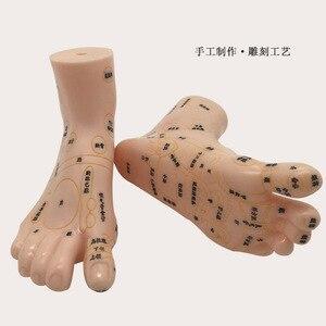 Image 2 - 19 سنتيمتر منطقة منعكس القدم تدليك نموذج ، وليس الوخز بالإبر نموذج ، تدليك القدم نموذج اللغة الصينية قدم ريفلكسولوجي ، 1 زوج الطبية
