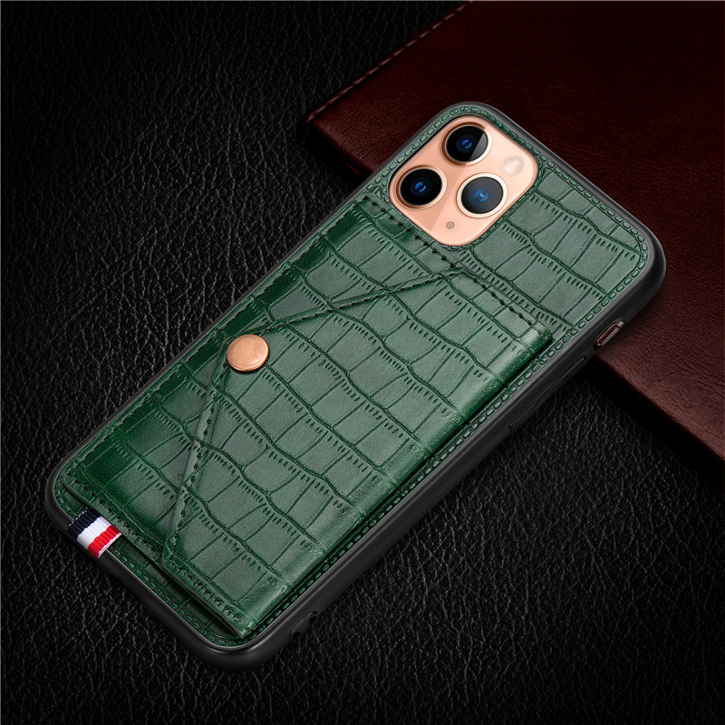 Luxury Magnetic Card Holder Case For IPhone 6 6s 7 8 Plus Leather Wallet Back Case For Iphone X XR XS Max 11 Pro Max Phone Cover