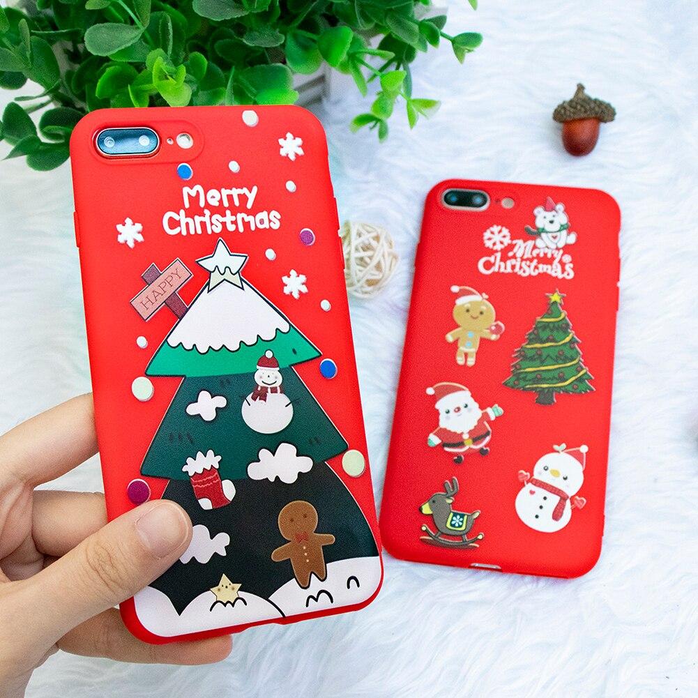 Weihnachten Silikon Fall Für Xiaomi Redmi Hinweis 6 5 7 K20 Pro Redmi 7 6A 5 Plus S2 Matte Fall für Xiaomi Mi 8 Lite 9 SE A1 Abdeckung