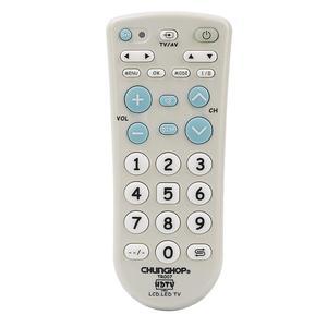 Image 3 - 유니버설 적외선 IR TV 세트 원격 제어 슈퍼 호환 Chunghop 고품질 TR007 큰 버튼 큰 키