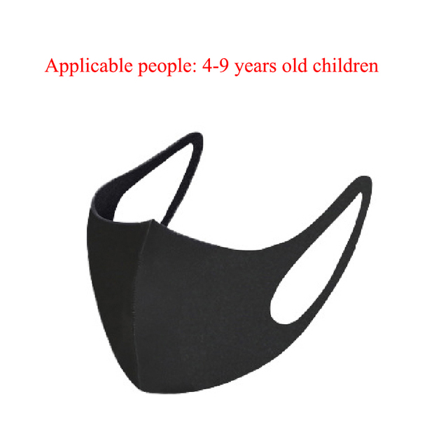 1PC Kids Child Cotton Mouth Mask Anti Dust Windproof Ice Silk Mask Face Masks Washable Reusable Child Mouth-muffle Mask 3