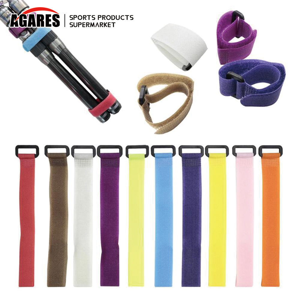 CLISPEED 8pcs Fishing Rod Belt Ties Pole Straps Fishing Tackle Tie Bag Accessories