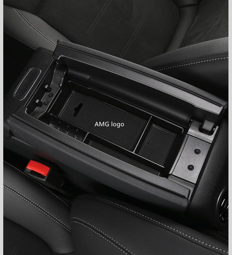 Boîte de rangement pour accoudoir de Console | Pour Mercedes classe A W177 A180 A200 2019 boîte de rangement pour accoudoir central de voiture pour B GLB Class W247 X247 2020