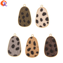 Cordial Design 50Pcs 21*35MM Jewelry Accessories/Hand Made/Charms/Drop Shape/Leopard Print Effect/DIY Making/Earrings Findings