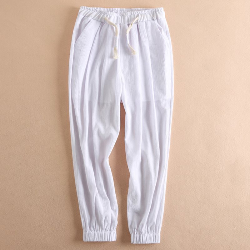 Nine Pants Winter Trousers Loose Punk White Sport Large-Size Casual 4XL Basic Unisex