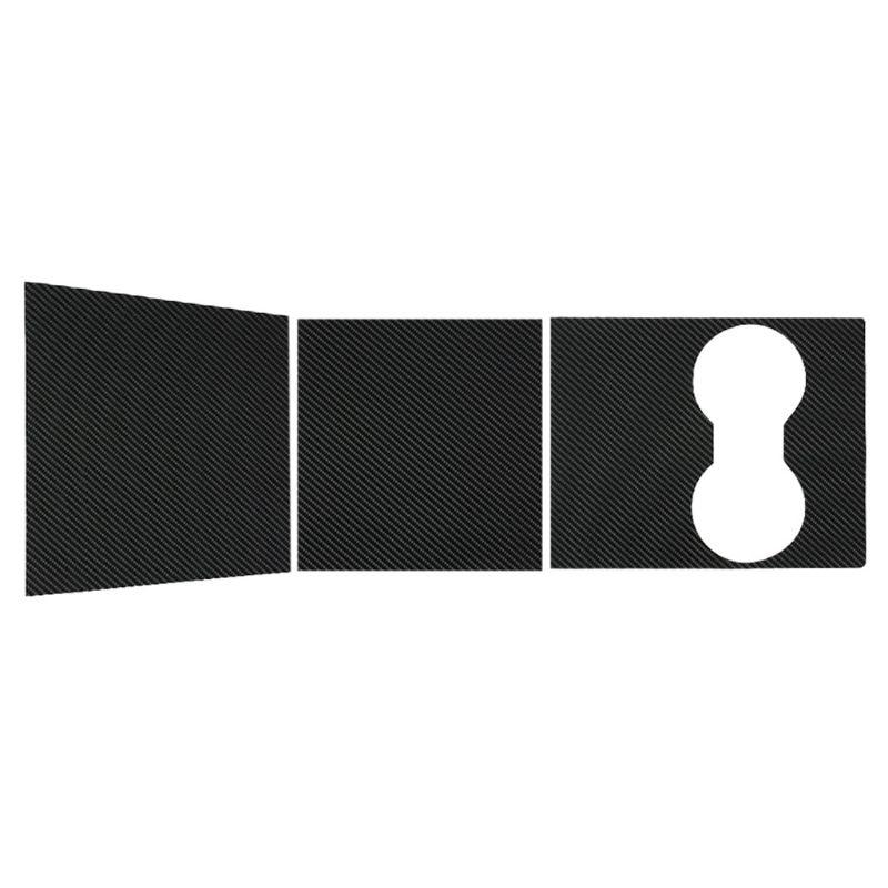 Car Center Console Wrap Kit Sticker Dashboard Matte Carbon Fiber Black For Tesla Model 3