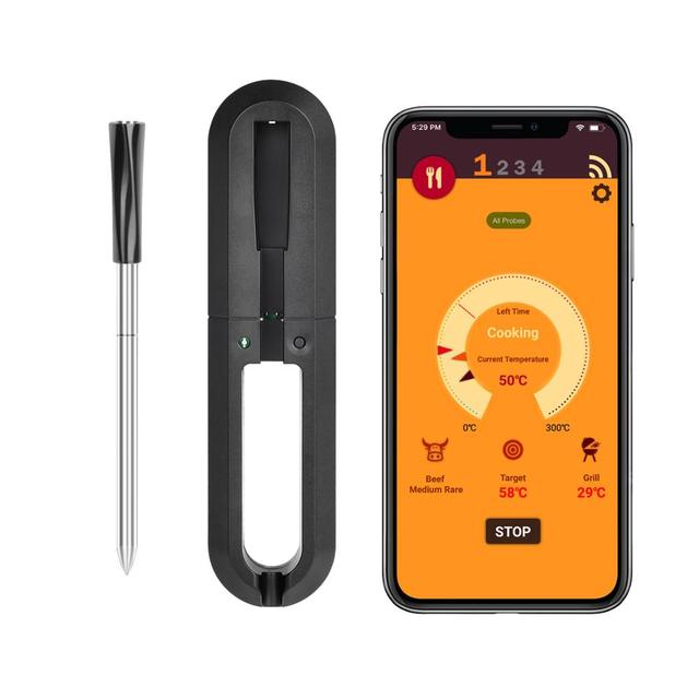 WGT Digital Probe Vlees Meat Thermometer Kitchen Wireless Cooking BBQ Food Thermometer Bluetooth Oven Grill Thermometer Probe