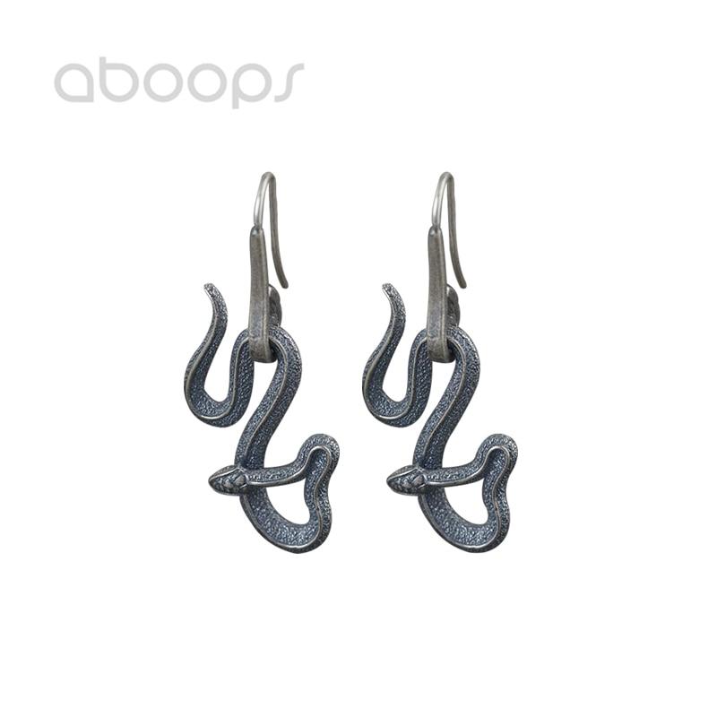 Boucles d'oreilles serpent en argent Sterling 925 pour femmes