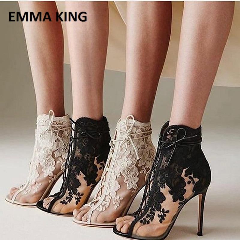 peep toe stiletto ankle boots