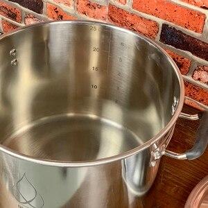 Image 5 - 25L ポット、ボイラー、タンク、発酵ベル蓋蒸留、整流、衛生鋼 304