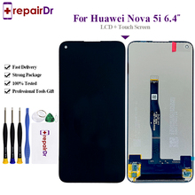 100% Testado Para Huawei Nova 5i LCD Screen Display Toque Digitador Assembléia GLK LX1/LX2/LX3 Para Huawei Nova 5i Tela LCD