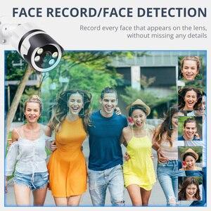 Image 2 - Камера видеонаблюдения Misecu, 4 канала, 8 каналов, AI, функция распознавания лиц, POE, NVR, 1080P, двусторонняя аудиосвязь, для наружного использования