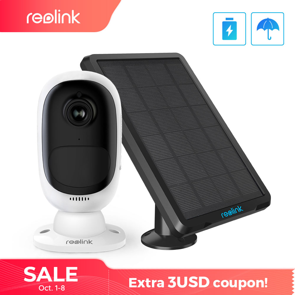 Reolink Argus 2 and Solar panel Continuous Rechargeable Battery 1080P Full HD Outdoor Indoor Security WiFi Camera 130 Wide View-in Surveillance Cameras from Security & Protection