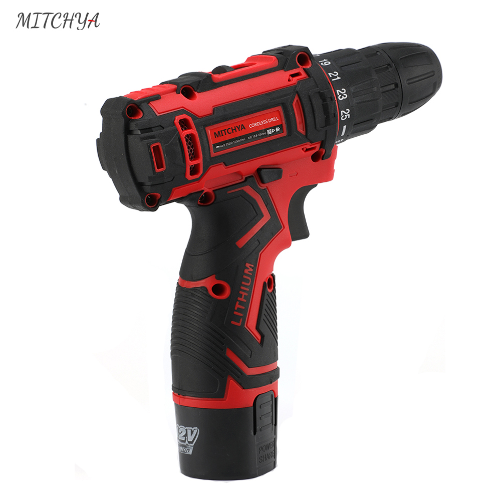 Tools : 12V Cordless Screwdriver Large Capacity Lithium Battery Power Tools Family Repair Electric Drill