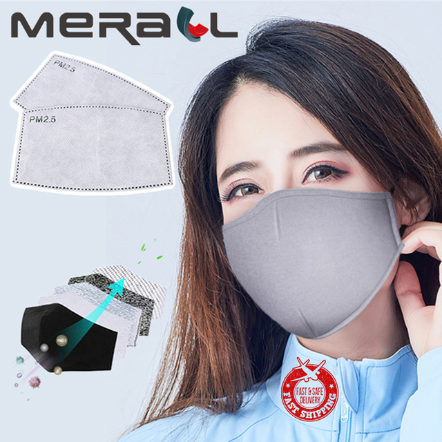 PM2.5 Cotton Protective Mask Anti Dust Mask Activated Carbon Filter Windproof Mouth-muffle Bacteria Proof Flu Face Masks Care