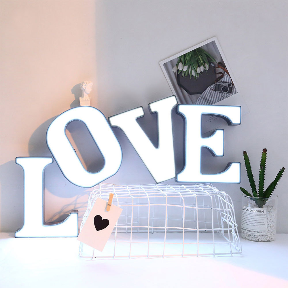 DIY Luminous LED Letter Night Light Creative 26 English Alphabet Number Battery Lamp Romantic Wedding Party Decoration Christmas