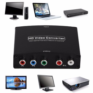 HDMI в RGB Компонентный (YPbPr) видео + R/L аудио адаптер, конвертер, HD ТВ, HD видео конвертер, 2 канала, LPCM 1,65 Гбит/с/165 МГц, вилка США