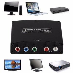 Convertidor de adaptador de Audio HDMI a componente RGB (YPbPr) para vídeo + R/L, convertidor de vídeo HD para TV HD de 2 canales LPCM 1,65 Gbps/165MHz, enchufe de ee.uu.