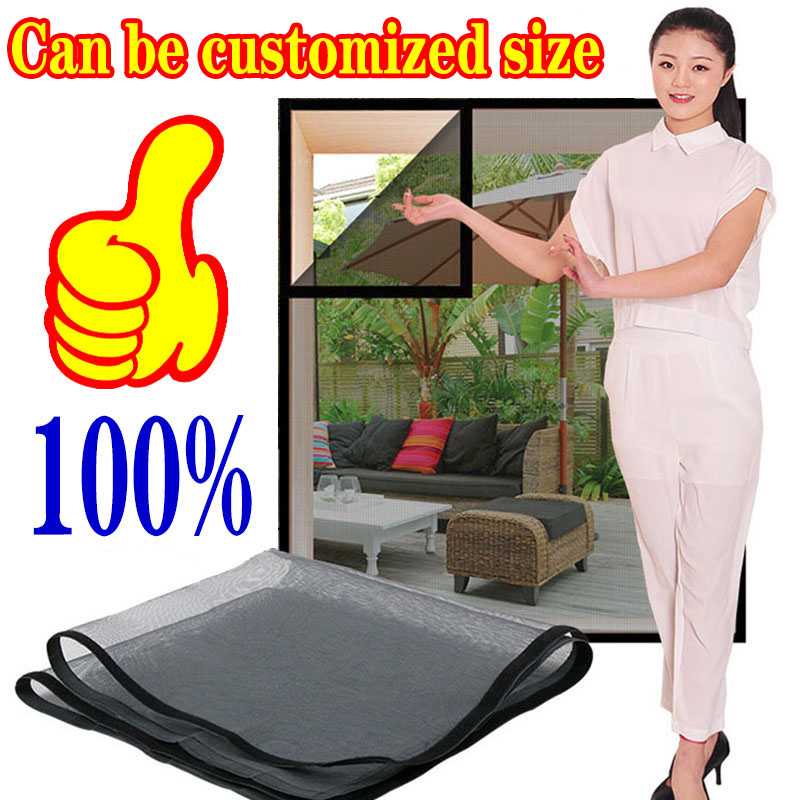 Inset Window Screen Mesh, Air Tulle Adjustable Summer Invisible Anti-Mosquito net Fiberglass Removable Washable Customize Screen 5