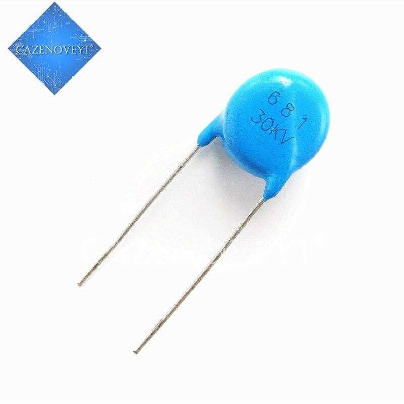 1 шт./лот керамический конденсатор высокого напряжения с керамическим чипом 681K 30KV 680PF 30KV681 в наличии