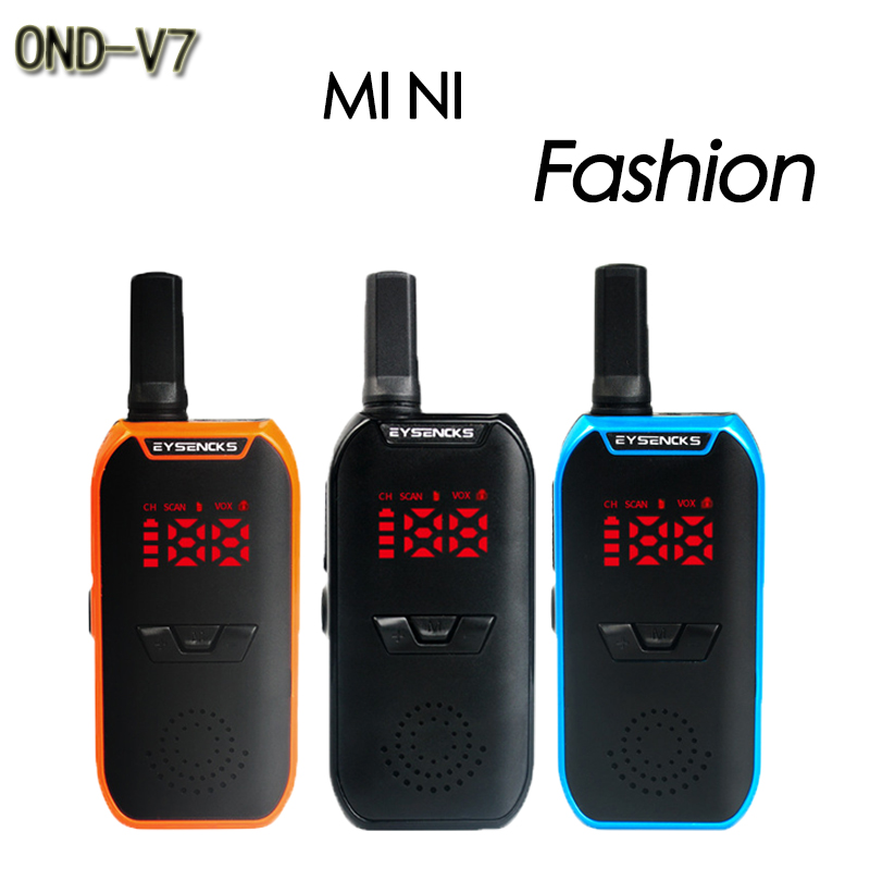 OND-V7 MINI Walkie Talkie VOX Voice Control UHF 400-470MHz VOX Function Walkie Talkie Radio Transceiver With Earpiece