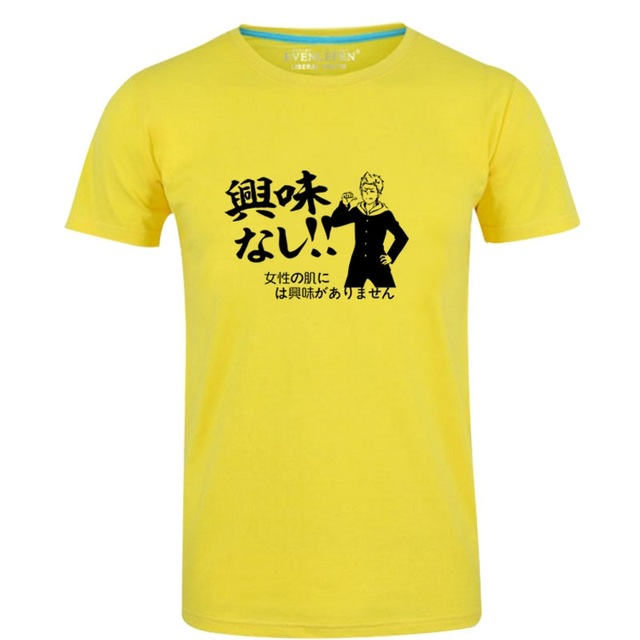 T-Shirt en coton fille haute Q unisexe Anime Senryu T-Shirt col rond décontracté Yukishiro Nanako Eiji Busujima jaune T-Shirt T-Shirt