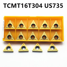 Carbide insert TCMT16T304 US735 internal turning tool high quality TCMT 16T304 lathe tool carbide turning blade milling cutter 50pcs square tcmt16t304 md turning carbide insert long time cutting quality