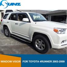 ด้านข้าง deflectors หน้าต่าง Rain GUARD สำหรับ Toyota 4Runner 2003 2004 2005 2006 2007 2008 2009 ลมโล่ลม SUNZ
