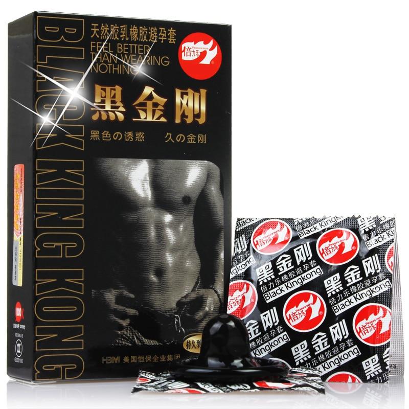 50 шт. Черный Прочный презервативы ультра тонкий для полового члена, создающий защитную пленку, Длительное Действие, натуральный латекс през...