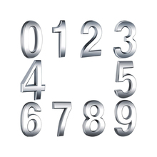 10 Pieces Self-Adhesive Door House Numbers Mailbox Numbers Street Address Numbers for Residence and Mailbox Signs