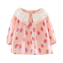 Cute dress for girls Autumn Baby Girls Clothes Floral Print Long Sleeve Dress Kids Pageant Dresses newborn baby girls floral long sleeve party pageant prom formal dress long sleeves girls cotton dress clothes