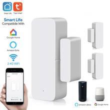 Tuya WiFi Door Sensor Smart Door Open/Closed Detectors Smartlife Security Alarm APP Wifi Window Sensor Work
