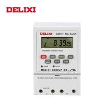 DELIXI переключающее реле таймера переменного тока 220 В 110 в 12 В 24 в цифровой ЖК дисплей Еженедельный 7 дней программируемый контроль времени с креплением на din рейку