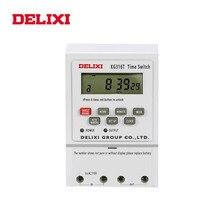 DELIXI zamanlayıcı anahtarı röle AC 220V 110V 12V 24V dijital LCD güç haftalık 7 gün programlanabilir zaman kontrol Din raylı