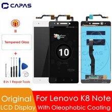 Ban đầu Cho Lenovo K8 Note MÀN HÌNH Hiển Thị LCD + Khung 10 Màn Hình Cảm Ứng Với Bảng Điều Khiển Lenovo K8 Note FULL LCD Màn Hình Bộ Số Hóa bộ Phận thay thế
