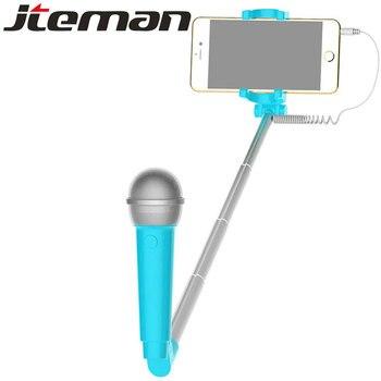 Selfie universal palo selfi para movil handheld mini selfie subwoofer microphone uitschuifbare stok selfie stick selfie holder фото